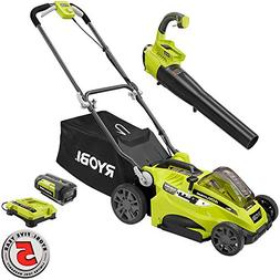 Ryobi 16 in. 40-Volt Lithium-Ion Cordless Lawn Mower with Je