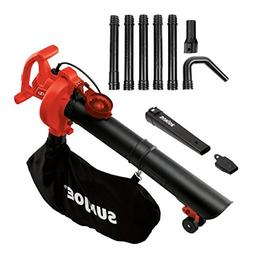Sun Joe SBJ606E-GA-RED 14 Amp 250MPH 4-in-1 Electric Blower/