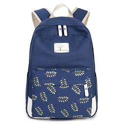 Kalakk Fashion Girl School Bags For Teenagers Cute Leaf Prin