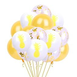 Set of 15PCs 12'' Hawaii Party Balloon Glumes Flamingo Tropi