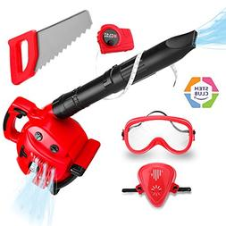 Kids Power Tool Toy Leaf Blower Play Set, Boys Pretend Play