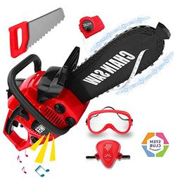 Kids Power Tools Chainsaw Set, Boys Play Toy Outdoor Lawn To