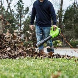 Greenworks Top Quality Leaf Jet Blower Garden Electric Corde