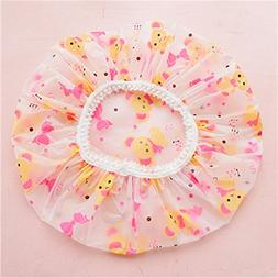 ANMOSHUA 1Pcs Transparent Waterproof Lovely Thick Shower Cap