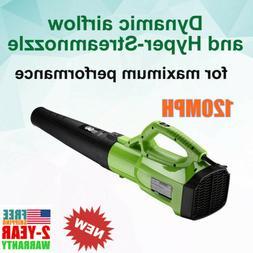 Turbine Powerful Cordled Brushless Leaf Blower Sweeper 2-Spe