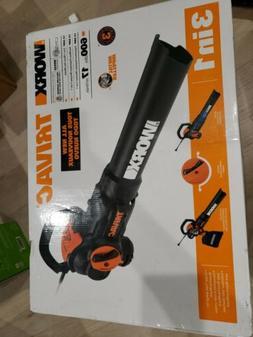 WORX WG522 12 Amp 2.0 Electric Leaf Blower/Mulcher/Vacuum NI