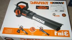 WORX #WG522 12 Amp 2.0 Electric Leaf Blower/Mulcher/Vacuum