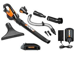 Worx 20V Max Lithium Blower/Sweeper with 8 Attachments + 4.0