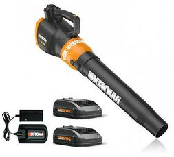 WG546.2 WORX 20V Cordless Turbine Leaf Blower with  Batterie