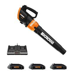 Worx WG546.3 Turbine 20V Cordless Blower/Sweeper with 340 CF
