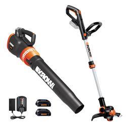 WORX WG921 20V PowerShare Grass Trimmer / Edger & Leaf Blowe