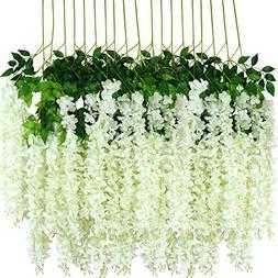 zscp Wisteria Flowers,Fake Wisteria,Silk Wisteria,Hanging Wi