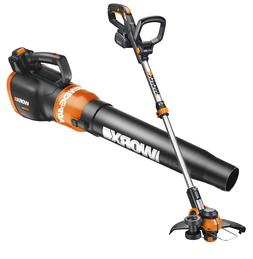 WORX WO7033 40V Turbine Leaf Blower & Cordless Trimmer Power