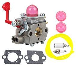 WT-875 Carburetor with Fuel Line Filter Spark Plug Kit for C
