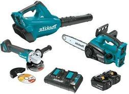 Makita XT274PTX 18V X2 LXT  Blower & Chain Saw Combo Kit  w/